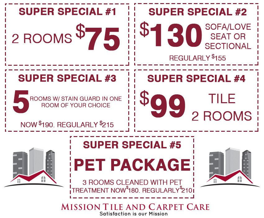 Carpet Cleaning Specials 2021