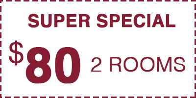 Carpet Cleaning Special $80 for 2 rooms